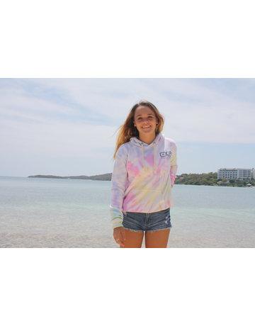 Ocean Surfari Ladies Tie Dye Burnout Hoodie Sunshine Swirl