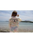 Ocean Surfari Ladies Tie Dye Hacci Crewneck Sunkissed