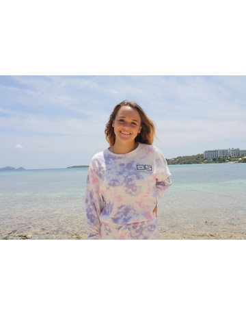 Ocean Surfari Ladies Tie Dye Hacci Crewneck Jasmine