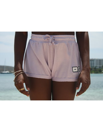 Ocean Surfari Ladies Hacci Fleece Shorts Lilac