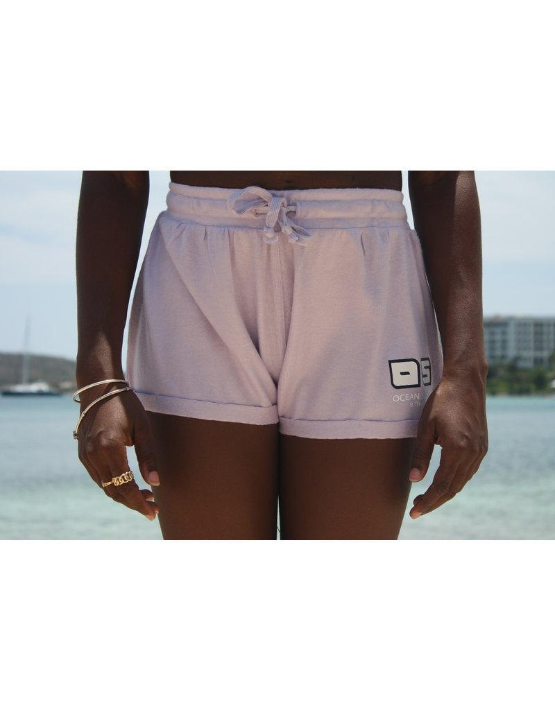Ocean Surfari Ladies Hacci Fleece Shorts Lilac