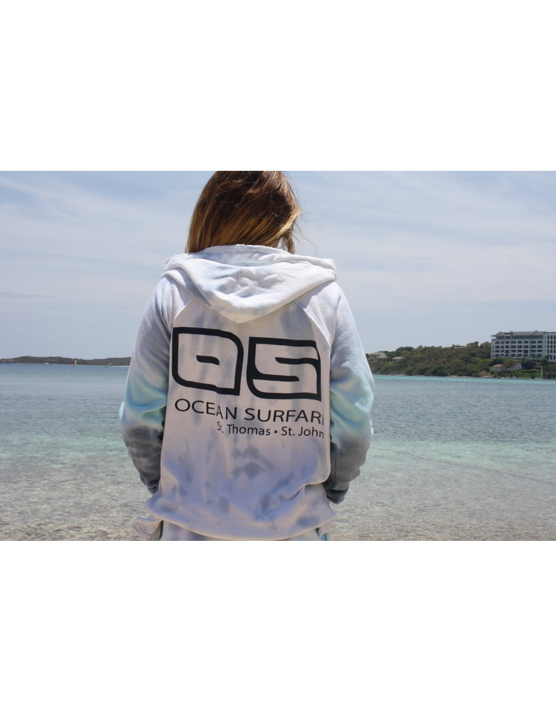 Ocean Surfari Ladies Tie Dye Burnout P/O Hoodie Oceanic