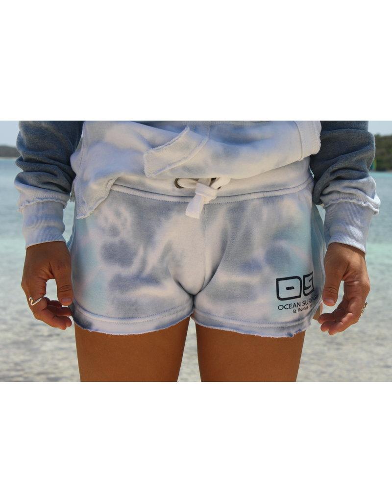 Ocean Surfari Ladies Tie Dye Burnout Shorts Oceanic
