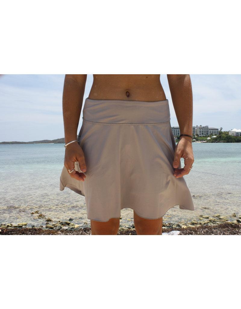 Ocean Surfari Solid Skort With Pockets Gray