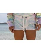 Ocean Surfari Ladies Tie Dye Burnout Shorts Firework