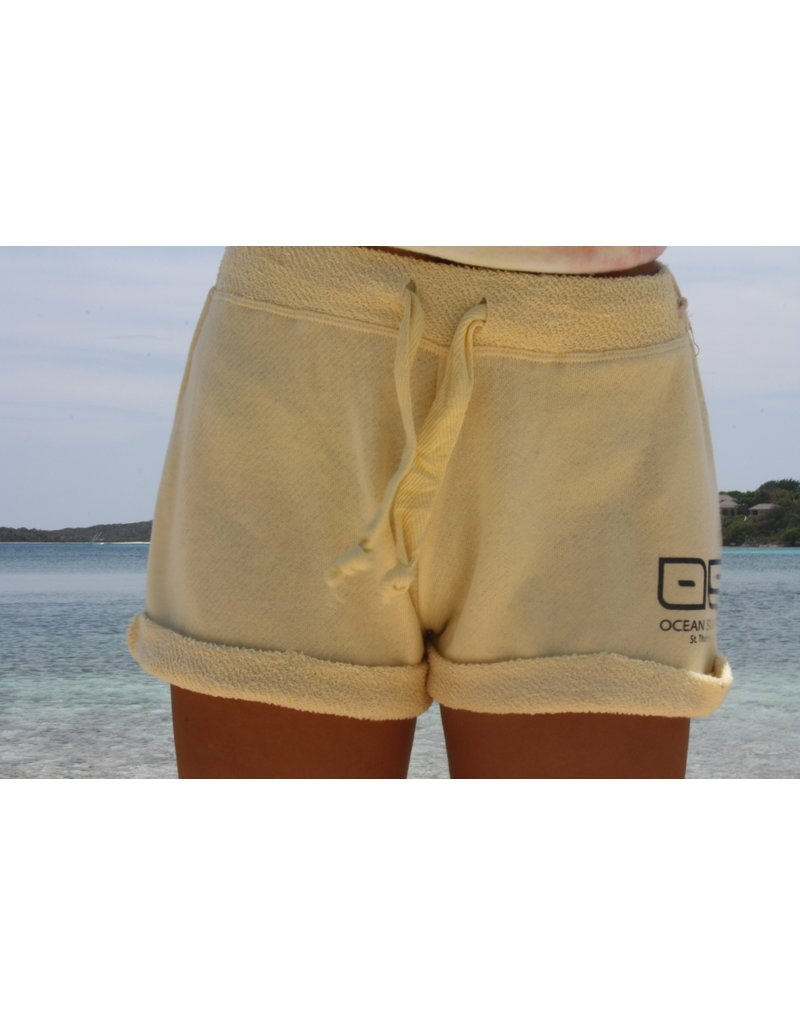 Ocean Surfari Ladies Terry Relaxed Short Citrus