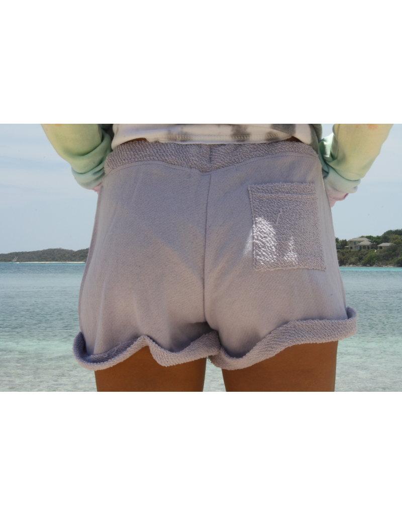 Ocean Surfari Ladies Terry Relaxed Short Dusty Lilac