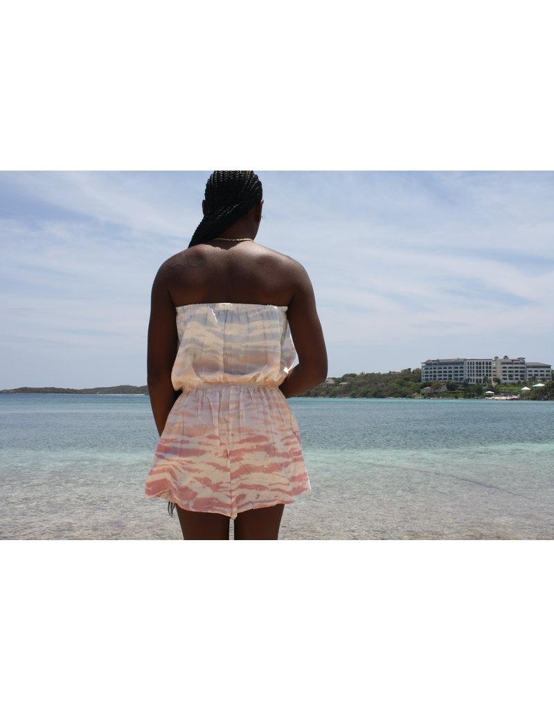 Ocean Drive Fashion Romper Tri Color Ombre Tie Dye