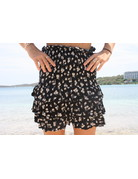 Ocean Drive Fashion Skirt Black Ditsy Floral