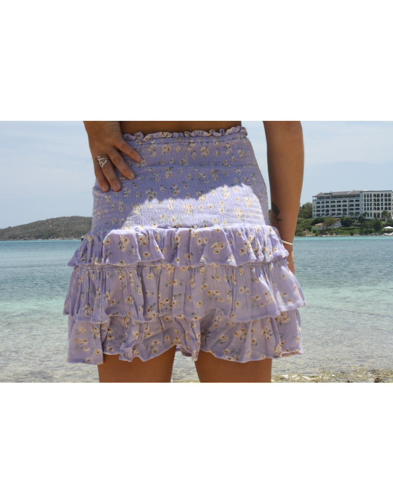 Ocean Drive Fashion Skirt Lilac Ditsy Floral