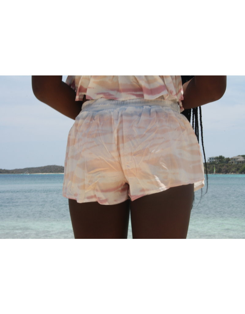 Ocean Drive Fashion Short Tri Color Ombre Tie Dye