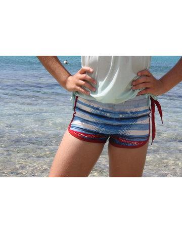 WL Girls Side Tie Short H2O
