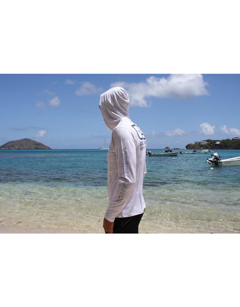 Ocean Surfari OS SPF 50+ Performance Men's Hoodie White Water