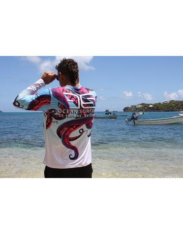 Ocean Surfari OS SPF 50+ Performance Men's LS Octopus