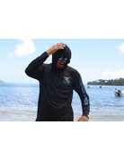 Ocean Surfari OS SPF 50+ Performance Men's Hoodie VI Flag Black