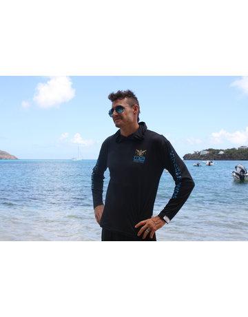 Ocean Surfari OS SPF 50+ Performance Men's Hoodie VI Flag Black