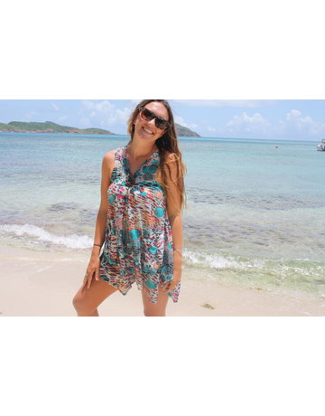 Paradise USA Tunic Cosmo Turquoise