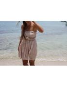 Ocean Drive Fashion Crinkle Dress Soft Pink Bandana