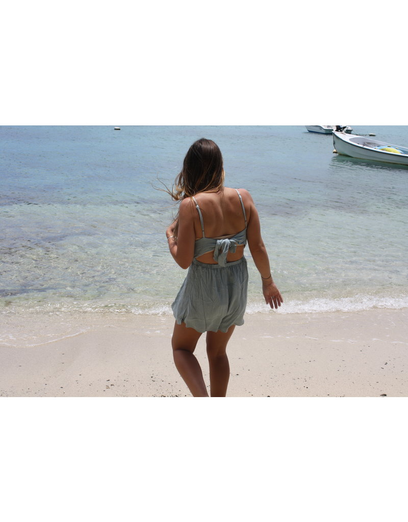 Ocean Drive Fashion Crinkle Romper Blue