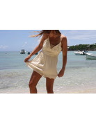 Ocean Drive Fashion Crinkle Romper Soft Natural