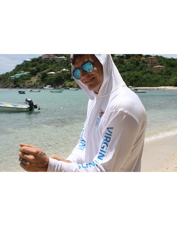 Ocean Surfari OS SPF 50+ Performance Men's Hoodie VI Flag