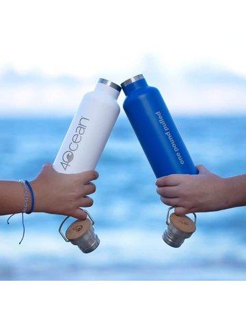 40cean 4Ocean Reusable Bottle White