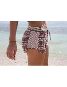 RS Side Lace Knit Tie Dye Short Coral