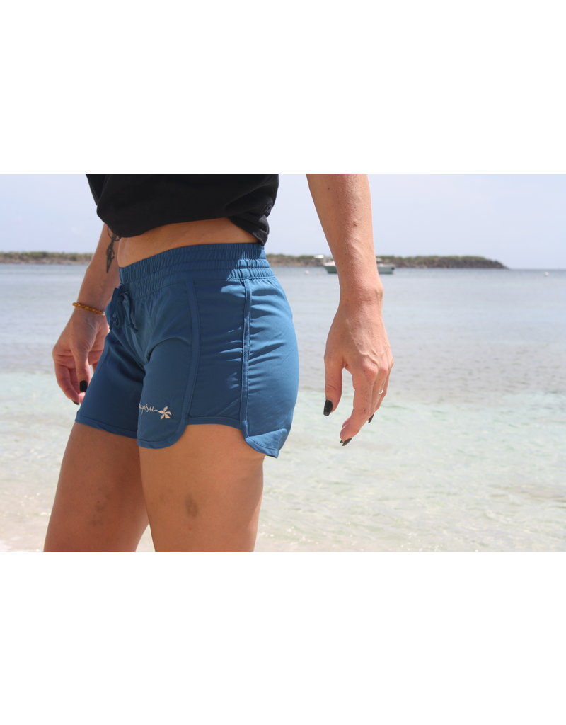 Raya Sun Copy of RS Junior Stretch Side Tie Short Indigo