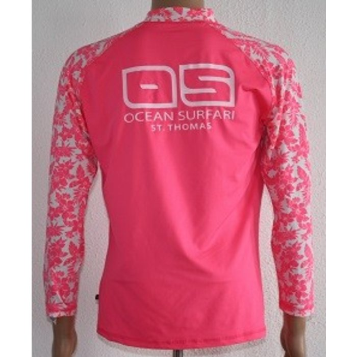 Banana Boat Youth's Long Sleeve Floral Pink