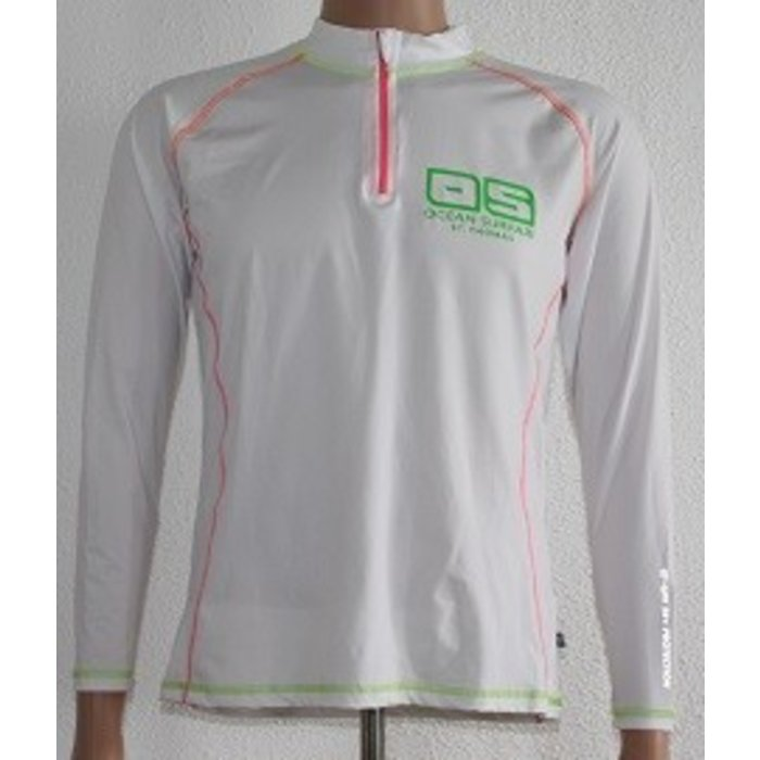OS SPF 50+ Performance 1/4 Zip Lad White
