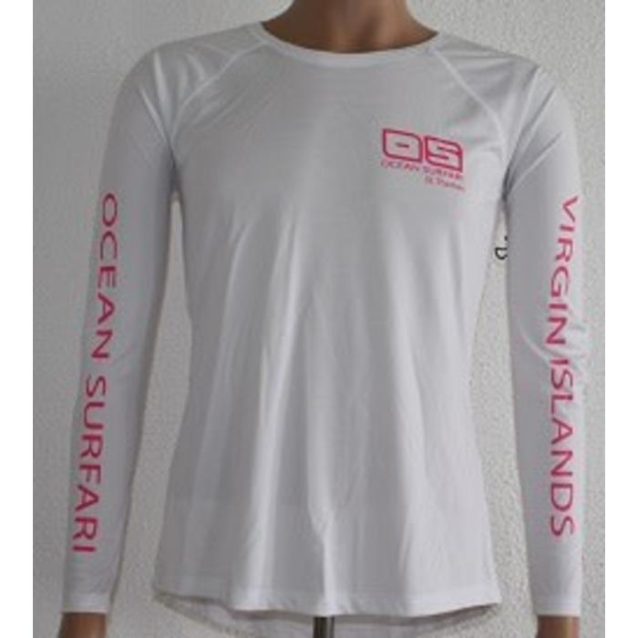 Vapor Ladies Dry-Fit LS White  X