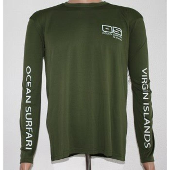 Vapor Men's Dry-Fit LS Hnt Green