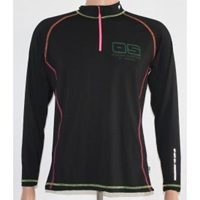 OS SPF 50+ Performance 1/4 Zip Lad Black