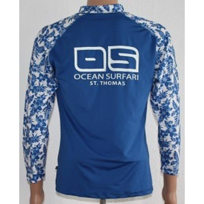 Banana Boat Women's Long Sleeve Floral Blue