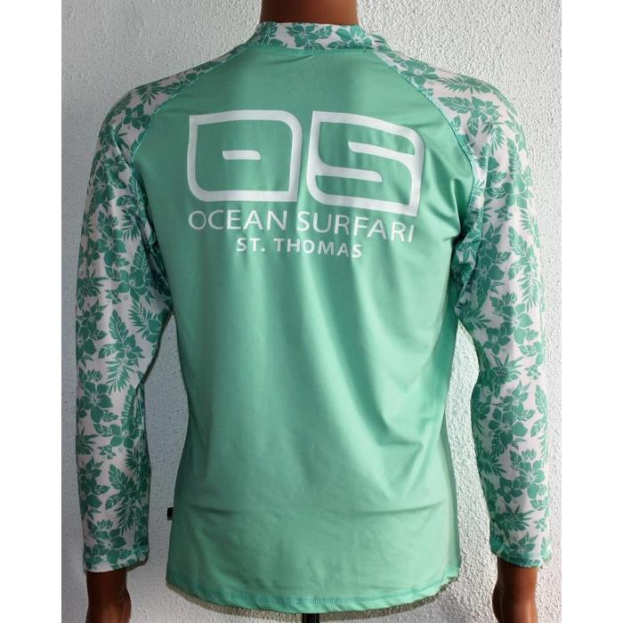 Banana Boat Women's Long Sleeve Floral Green