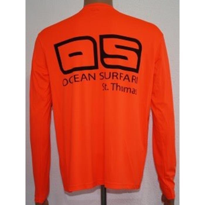 Vapor Men's Dry-Fit Long Sleeve Saftey Orange