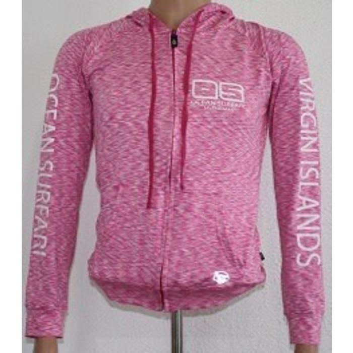 Banana Boat Women's UPF 50+ Hoodie Sweatshirt Full Zip Pink