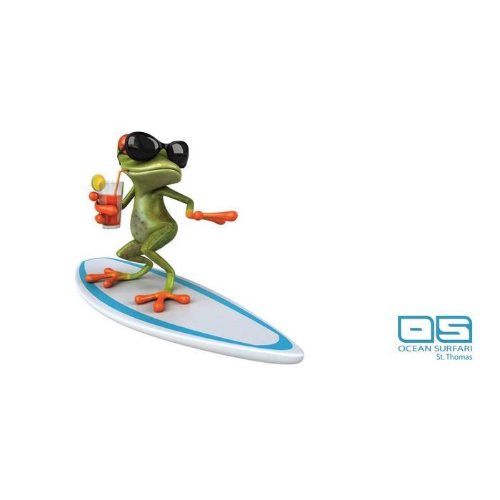Ocean Surfari Beach Towel Frog