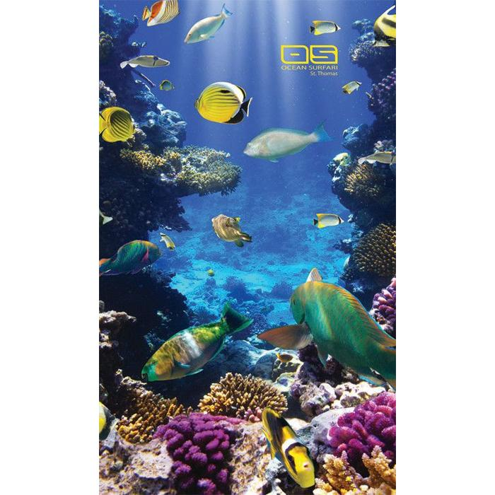 Ocean Surfari Beach Towel Coral Reef