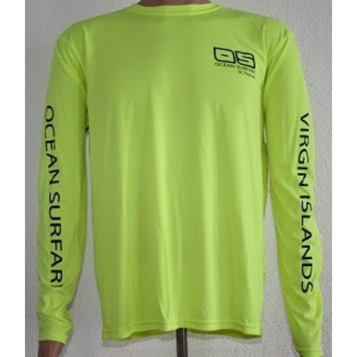Vapor Men's Dry-Fit Long Sleeve Safety Yellow