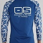 OS SPF 50+ Performance Ladies Floral Top Aqua