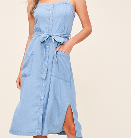 Midi Denim Dress