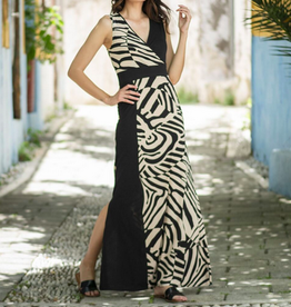 Maxi Color Block Dress