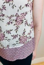 Keyhole Back Floral Top