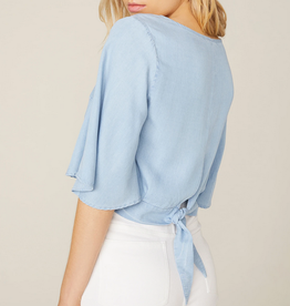 The Light Chambray Top