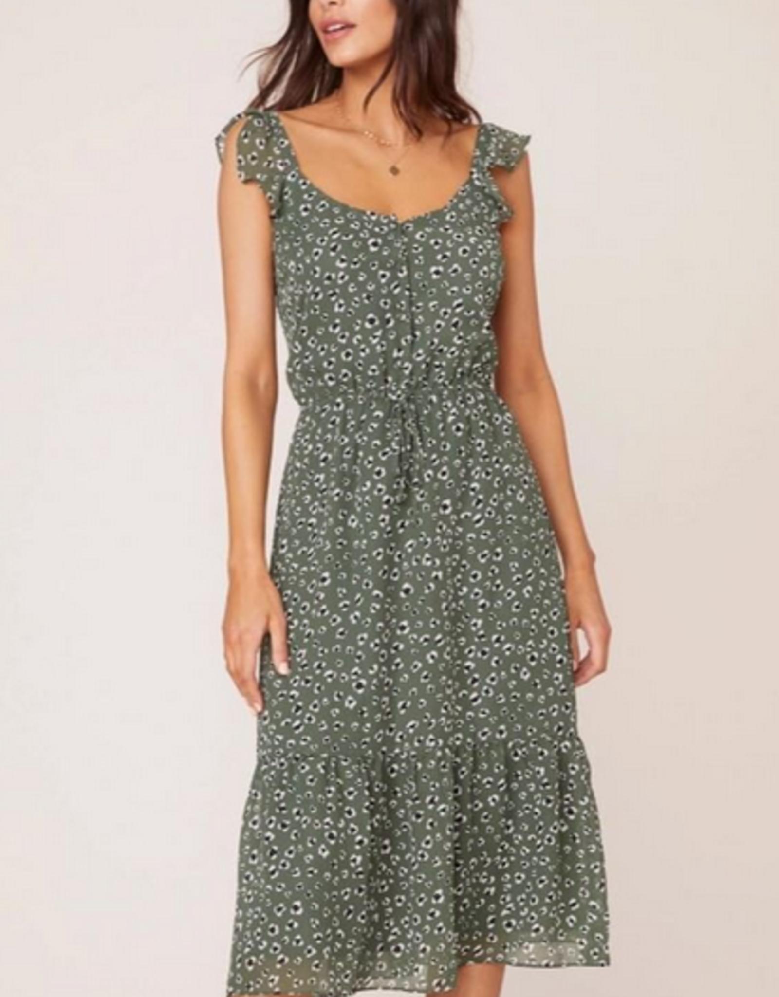 Leopard Print Midi Dress