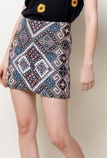 Embroidered Mini Skirt