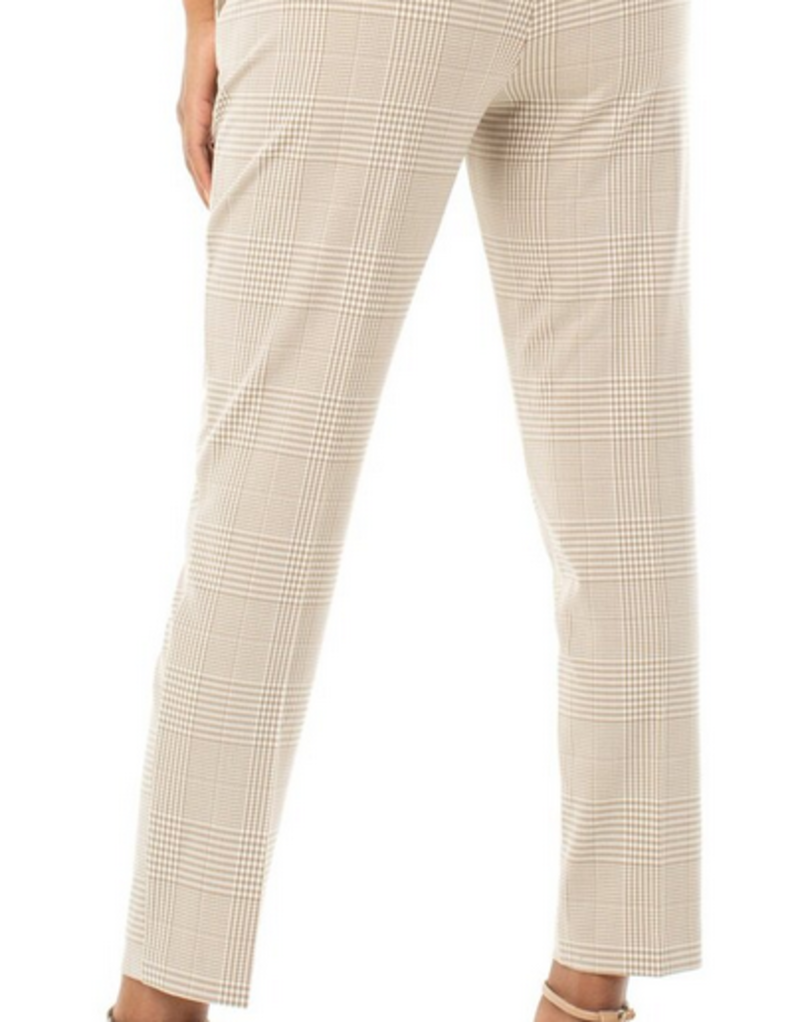 Tan Checked Kelsey Trousers