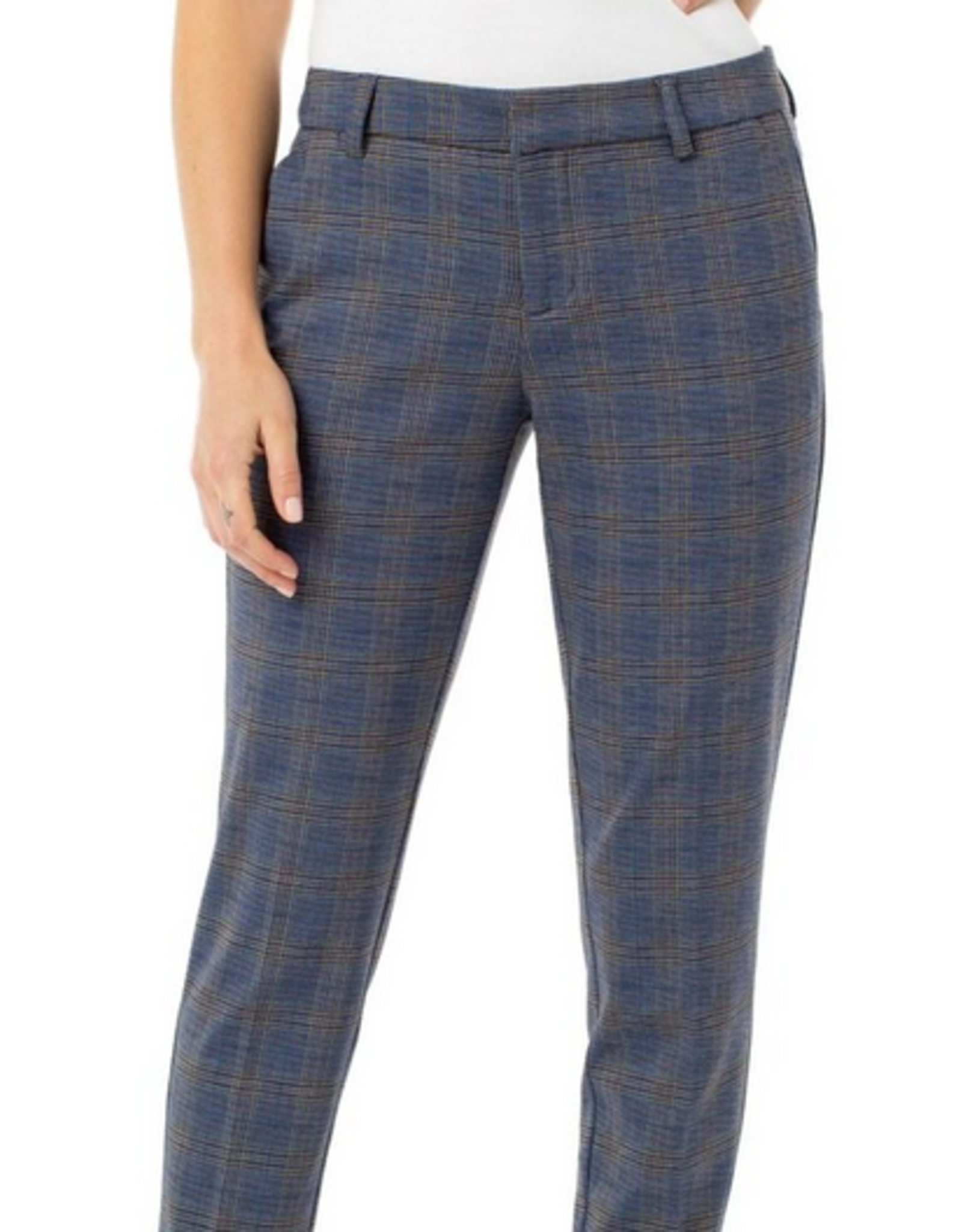 Navy Plaid Kelsey Trousers