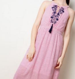 Seersucker Halter Dress
